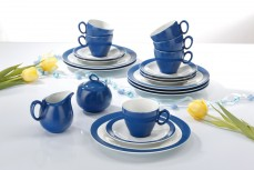 Geschirr Trio Spring Colors Blau