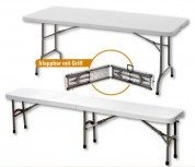 Klapp-Tisch/-Bank