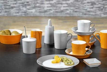 esmeyer ihr ausstatter f r betrieb und einrichtungen geschirr tric orange grau. Black Bedroom Furniture Sets. Home Design Ideas