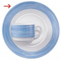 Speiseteller 23,5 cm Form Brush - Blue / Blau Arcoroc