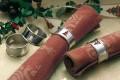 4er Set Serviettenringe WEIHNACHTSBAUM aus Edelstahl poliert, im Geschenkkarton