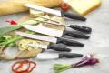 Kochmesser MOON  Klinge aus Spezialstahl, schwarzer PP-Kunststoff- Griff, Klingenstärke: 2.2 mm, an Hängekarte