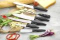 Fleischmesser MOON  Klinge aus Spezialstahl, schwarzer PP-Kunststoff- Griff, Klingenstärke: 2.2 mm, an Hängekarte