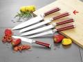 Brotmesser MARVEL, Klinge aus Messerstahl,  Klingenstärke: 2.5 mm, Griffe rot, Gesamtlänge: 32cm, an Hängekarte