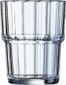 Norvege FB16 Stapelbecher 16cl, 0,1l /-/ mit  Füllstrich - Arcoroc Transparent (gehärtet)