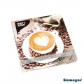 PAPSTAR 20 Servietten, 3-lagig Design Edition  1/4-Falz 33 cm x 33 cm, FUNKY Coffee