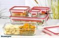 Emsa Clip  Close Glas Frischhaltedose, Inhalt: 0,2 Liter, quadratisch,  Maße: 110 x 110 x 59 mm