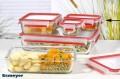 Emsa Clip  Close Glas Frischhaltedose Inhalt: 0,5 Liter, rechteckig Maße: 175 x 120 x 59 mm