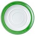 Waca Kaffeeuntertasse BISTRO, Durchmesser: 140 mm, Farbe: weiß/grün, Material: Melamin