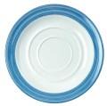 Waca Kaffeeuntertasse BISTRO, Durchmesser: 140 mm, Farbe: weiß/blau, Material: Melamin