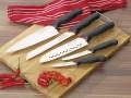 5-tlg. Messer-Sparset Prime Line Chef von Giesser, enthält je 1: Kochmesser, Brotmesser, Santoku-Messer, Universal- und Gemüsemesser
