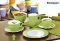 Kombi-Untertasse COFFEESHOP, green/hellgrün, von Eschenbach. Aus Porzellan, Durchm.16cm,  passt zu Milchkaffeetasse 0,32 l und Henkelbecher.