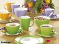 Suppenteller COFFEESHOP, Durch.22cm, hellgrün/ green, Porzellan, von Eschenbach. Tiefe Form.