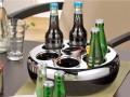 Helios Flaschenkühler PURE, inkl. Kühlakku, Farbe: schwarz/chrom, Höhe: 100 mm, Durchmesser: 290 mm