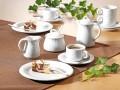 Espresso-/ Mocca-Untertasse - ohne Obertasse - hohe Form - Form AMBIENTE - uni weiß