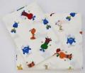 """Kinder-Bettwäsche """"Weltall"""", 2-teilig, Kissenbezug ca. 50x40 cm, Deckenbezug 100x135cm, 50% Baumwolle, 50% Polyester, waschbar bis 95°C."""