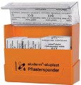 Pflasterspender Aluplast Maße: 154 x 128 x 54 mm Farbe: orange