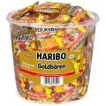Haribo Goldbären Fruchtgummi, Inhalt: 100 Minibeutel à 10 g je Runddose.