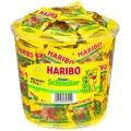 Haribo Kinder Schnuller Fruchtgummi, Inhalt: 100 Minibeutel à 10 g je Runddose.