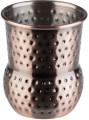 Becher, 4er Sets -MINI SHOT- Ø 4,5 cm, H: 5,5 cm  Edelstahl, Antik-Kupfer-Look gehämmerte  Oberfläche Volumen: 0,06 Liter