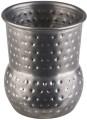 Becher, 4er Sets -MINI SHOT- Ø 4,5 cm, H: 5,5 cm  Edelstahl Antik-Edelstahl-Look gehämmerte  Oberfläche Volumen: 0,06 Liter