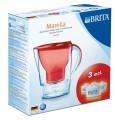 BRITA Marella Cool rot Starterpaket incl. 3  MAXTRA Filter, Volumen:2,4l, gefilt. Wasser:1,4l,  BRITA Memo