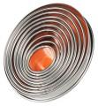 Ausstechformen, oval glatte Form, aus Weißblech, neun Stück komplett in der Dose Größe:  25 mmx20 mm - 85 mmx72 mm, Höhe: 30 mm