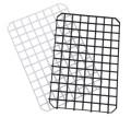 Gläserabtropfmatte , schwarz aus starrem Polypropylen, beliebig zusammensteckbar,  Lochgröße: 2 x 2 cm, 4 mm Bodenabstand ermöglicht