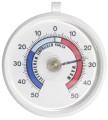 Kühlraumthermometer Messbereich von -50C bis +50C, Kunststoffgehäuse Durchmesser: 7  cm