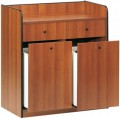 ETERNASOLID® Serviceschrank GARCON, 98cm (H),  Kirsche, 2 Behälterauszüge + 2 Besteckschubladen