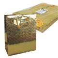 PAPSTAR 10 Lacktragetasche, Groß 32 cm x 26 cm x  13 cm gold Holografie