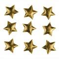 PAPSTAR 25 Deko-Accessoires Ø 30 mm gold Textile  Stars