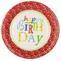 PAPSTAR 10 Teller, Pappe rund Ø 23 cm Happy  Birthday
