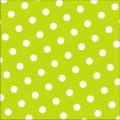 PAPSTAR 30 Servietten, 3-lagig 1/4-Falz 33 cm x  33 cm limonengrün Dots
