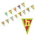 PAPSTAR Wimpelkette, Papier 4 m Happy Birthday  lackiert