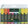 Faber-Castell Textmarker TEXTLINER 48 1-5mm 3 x  gelb, je 1 x orange, rot, rosa, blau, grün 8  St./Pack.