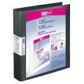 Veloflex Präsentationsringbuch VELODUR® 46mm DIN  A4 2 Ringe, D-Mechanik Pappe, Polypropylen schwarz