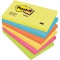 Post-it® Haftnotiz Active Collection 127 x 76 mm  (B x H) 2 x ultragelb, 1 x ultrablau, 1 x  neonorange, 1 x ultrapink, 1 x neongrün 100