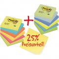 Post-it® Haftnotiz Promotion Rainbow 76 x 76 mm  (B x H) ultragelb, ultrablau, ultrapink,  neonorange, neongrün, neongelb, pastellgrün,