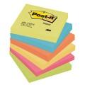Post-it® Haftnotiz Active Collection 76 x 76 mm  (B x H) 2 x ultragelb, 1 x ultrablau, 1 x  neonorange, 1 x ultrapink, 1 x neongrün 100