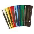 Soennecken Heftstreifen 3,4 x 15 cm (B x H)  Polypropylen je 25 x weiß, gelb, orange, rot,  hellblau, dunkelblau, dunkelgrün, grau, braun,