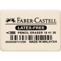 Faber-Castell Radierer Bleistifte, Buntstifte 2,7  x 1 x 4 cm (B x H x L) kein Kombiradierer  Kautschuk weiß