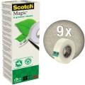 Scotch® Klebefilm Magic™ A greener choice 19 mm x  33 m (B x L) einseitig klebend ohne Lösungsmittel  Zelluloseacetat durchsichtig 9 St./Pack.