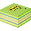 Post-it® Haftnotizwürfel 76 x 45 x 76 mm (B x H x  T) neongrün, neonblau, gelb 450 Bl.