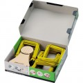 Jalema Abheftbügel Pli-Fix 90mm Metall,  kunststoffummantelt gelb/schwarz 100 St./Pack.