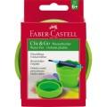 Faber-Castell Pinselbecher CLIC  GO 10 x 10 x 10  cm (B x H x T) 2 Pinsel Kunststoff grün