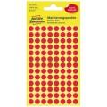 Avery Zweckform Markierungspunkt 8mm Papier rot  416 Etik./Pack.
