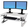 ERGOTRON Sitz-Steh-Arbeitsplatz WorkFit-TL 95 x  64 cm (B x T) 18kg weiß
