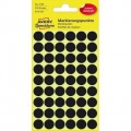 Avery Zweckform Markierungspunkt 12mm Papier  schwarz 270 Etik./Pack.