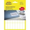 Avery Zweckform Universaletikett 38 x 14 mm (B x  H) Papier weiß 928 Etik./Pack.